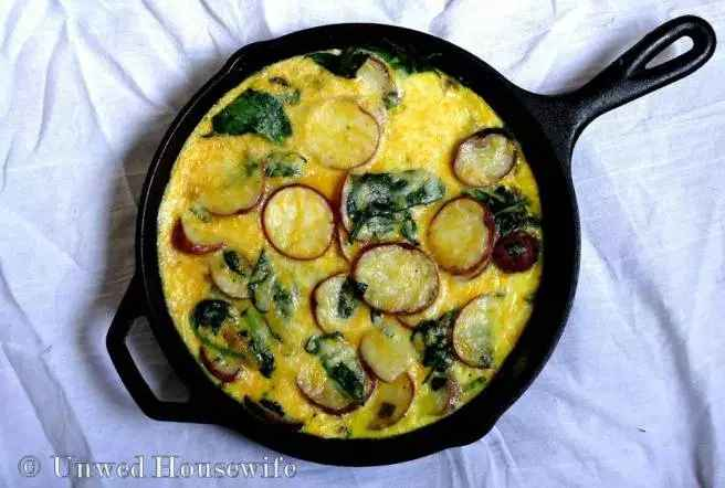 potato and spinach frittata recipe